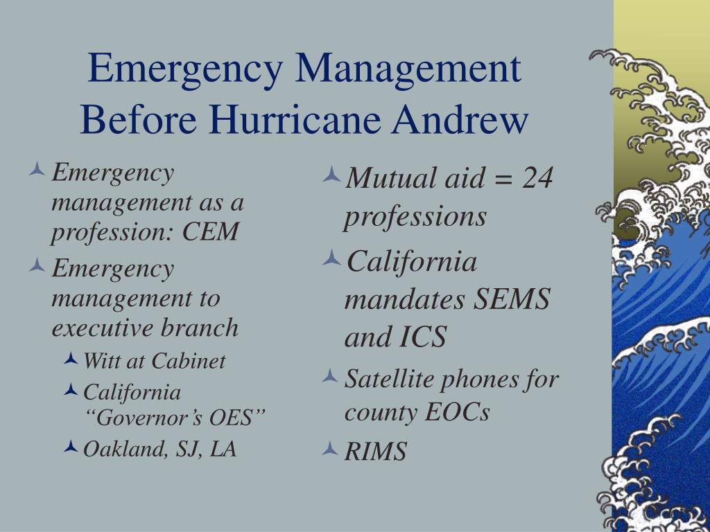 Emergency management as a profession: CEM