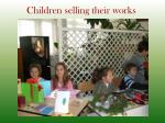 children selling their works