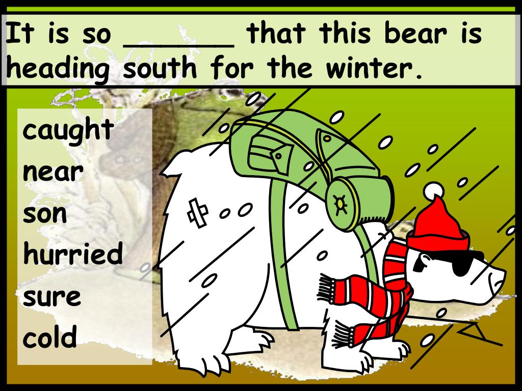 It is so ______ that this bear is heading south for the winter.