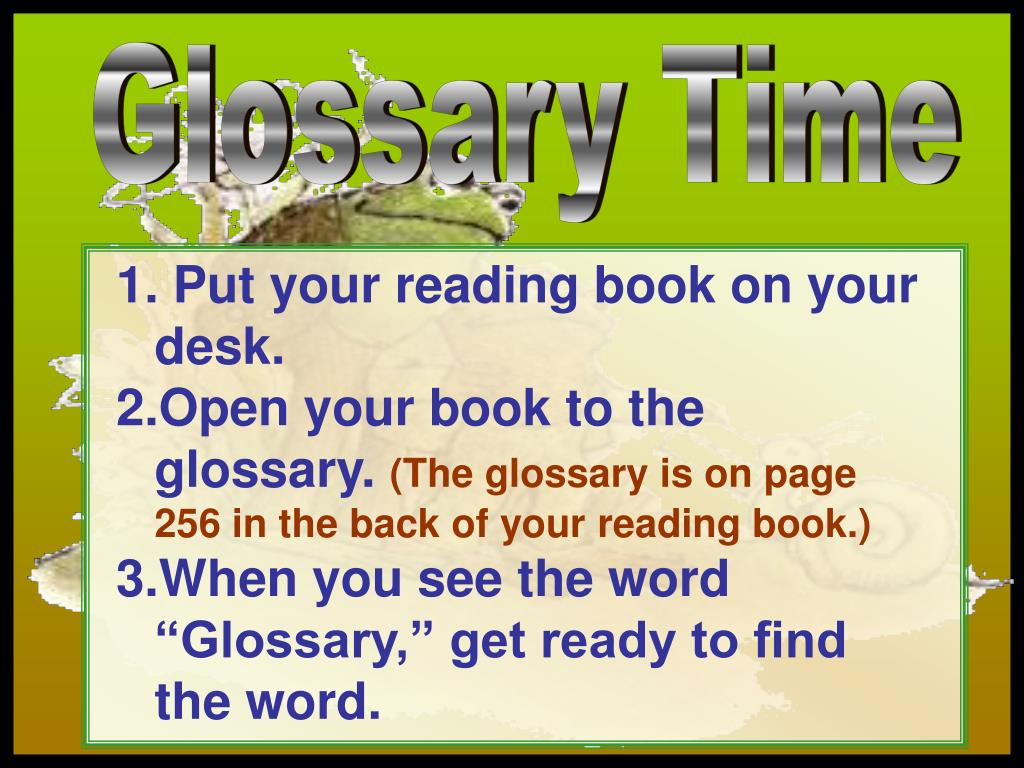 Glossary Time
