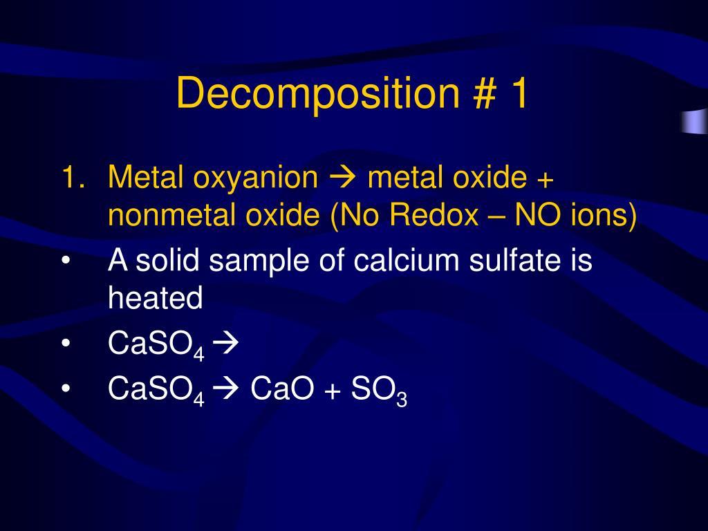Decomposition # 1