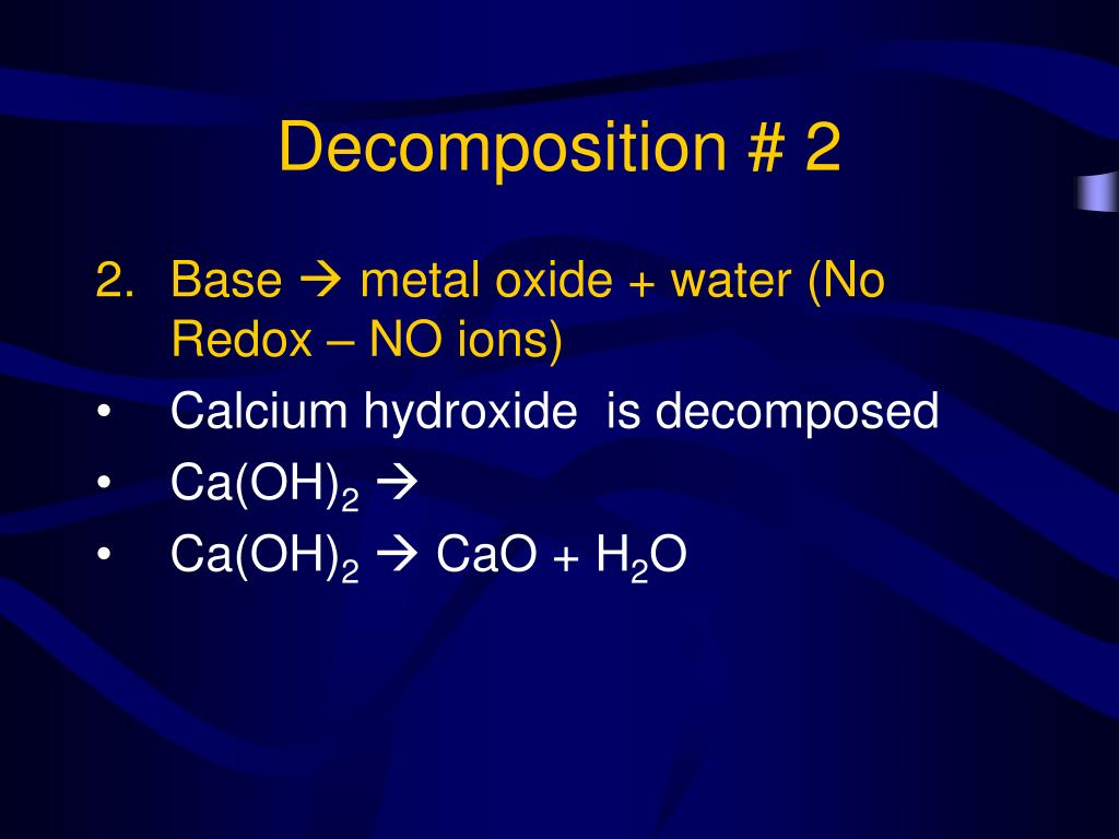 Decomposition # 2