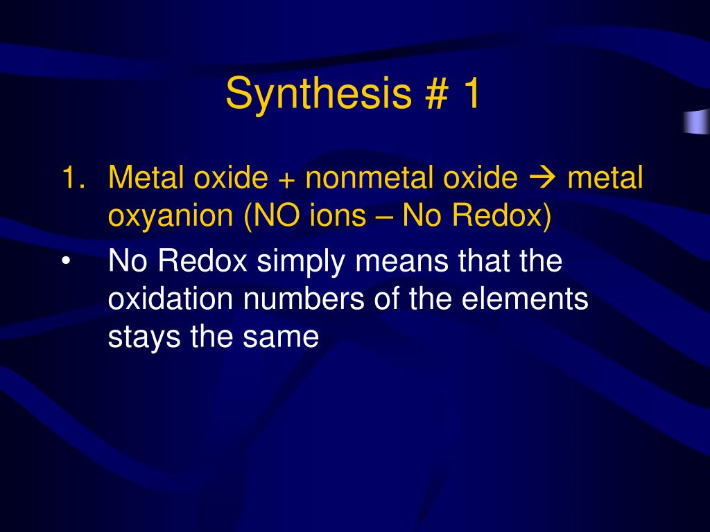 Synthesis # 1