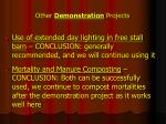 other demonstration projects