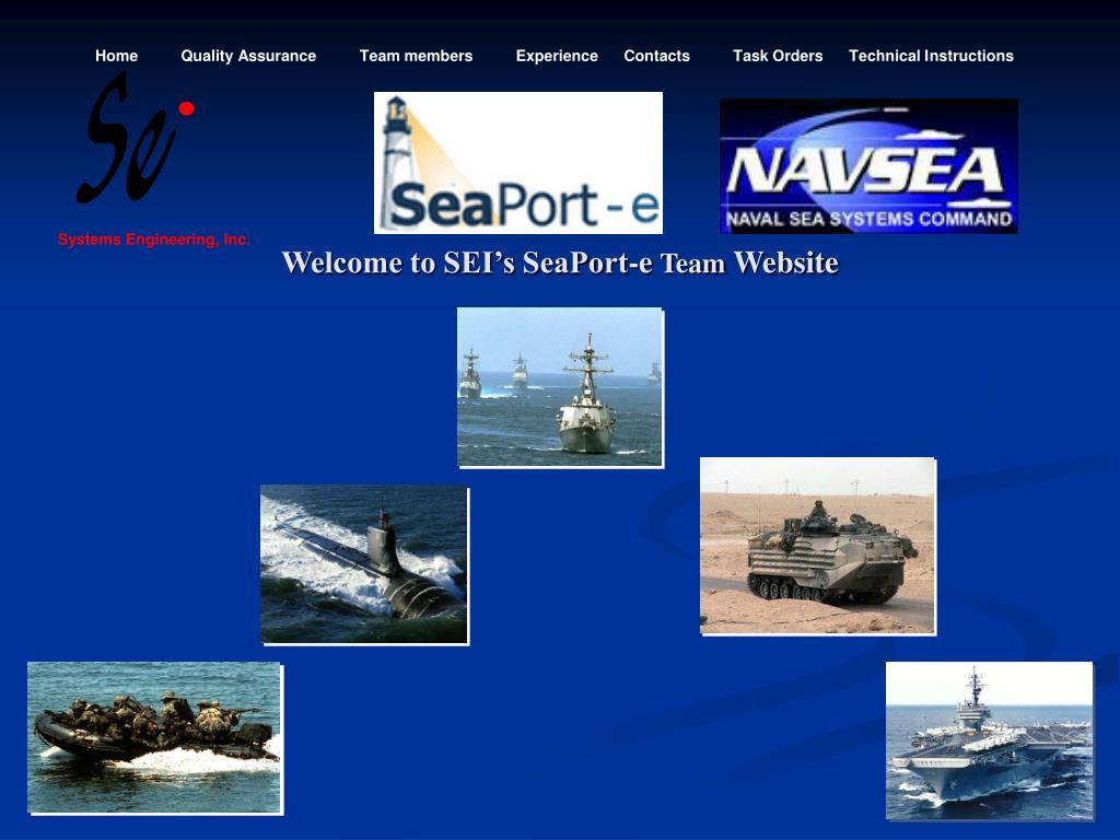 welcome to sei s seaport e team website