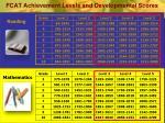 fcat achievement levels and developmental scores