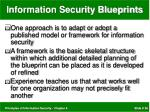 information security blueprints
