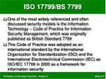 iso 17799 bs 7799