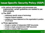 issue specific security policy issp