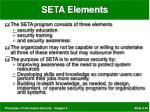 seta elements