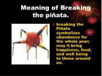 meaning of breaking the pi ata