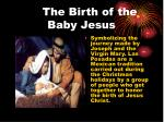 the birth of the baby jesus