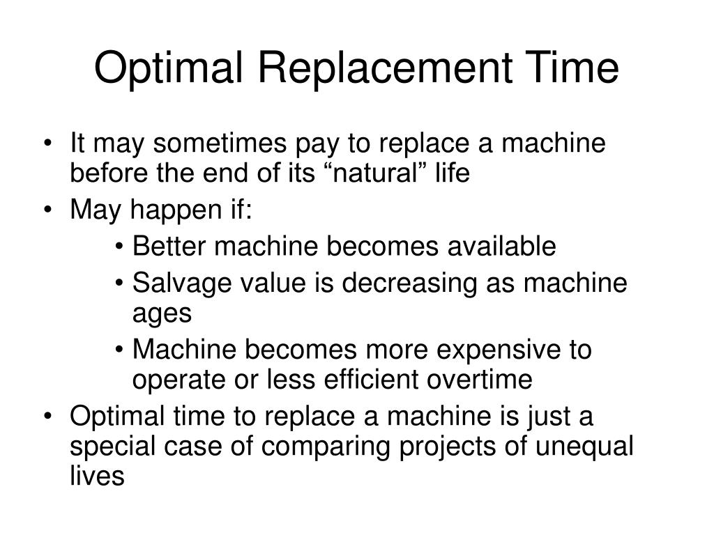 Optimal Replacement Time