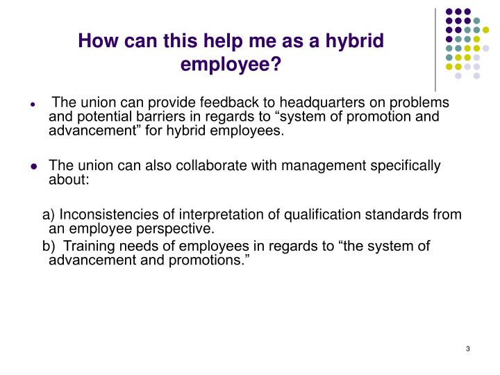 How can this help me as a hybrid employee