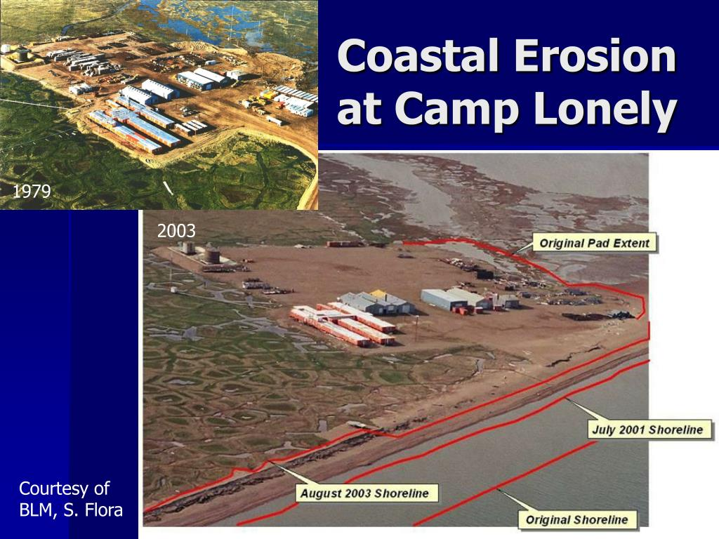 Coastal Erosion at Camp Lonely