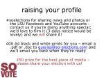 raising your profile