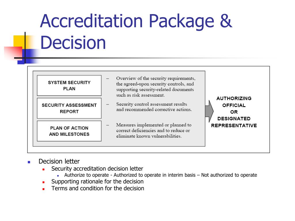 Accreditation Package & Decision