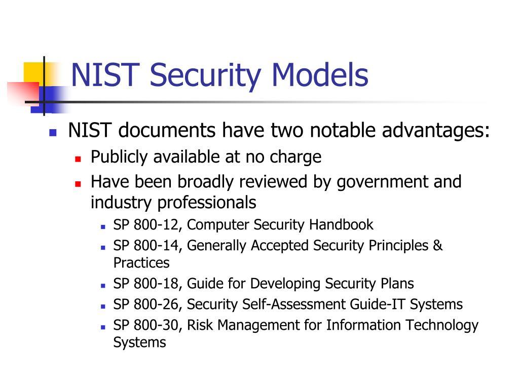 NIST Security Models