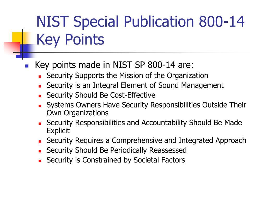 NIST Special Publication 800-14