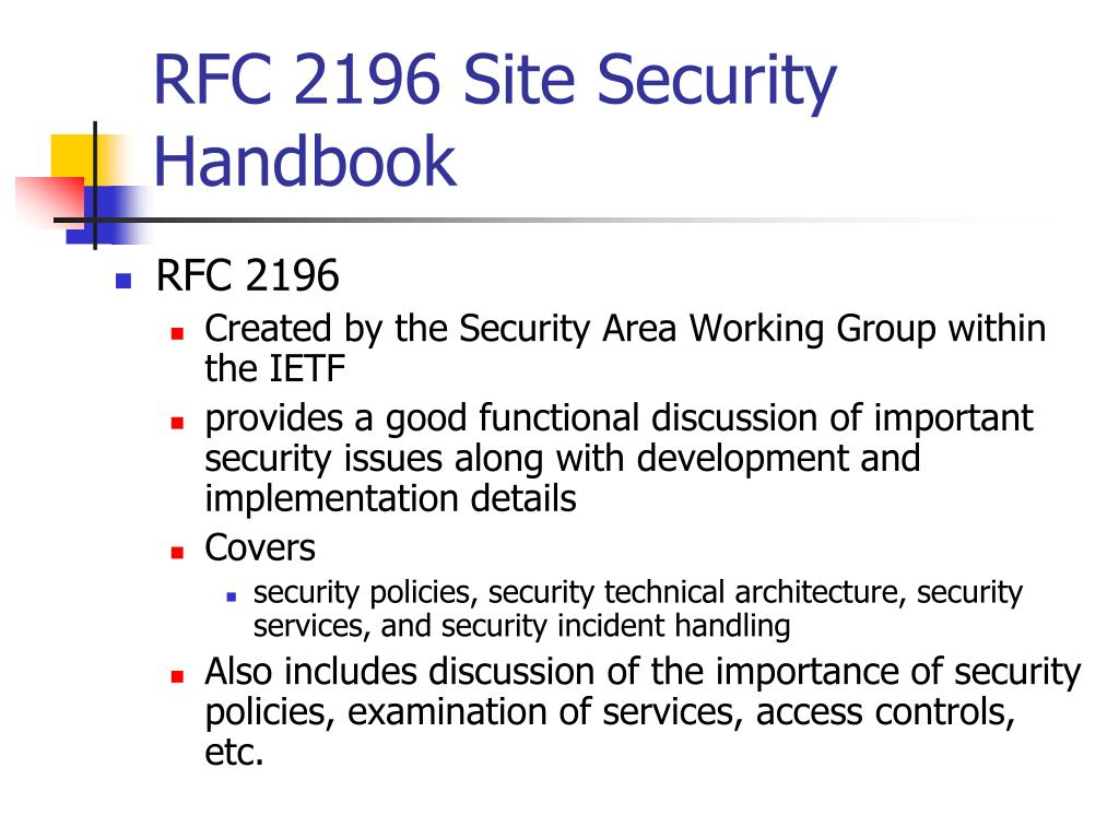 RFC 2196 Site Security Handbook