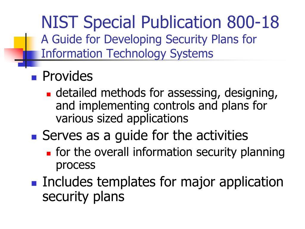 NIST Special Publication 800-18