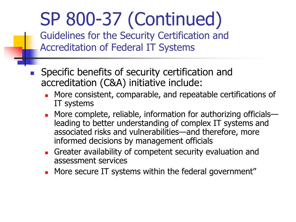 SP 800-37 (Continued)