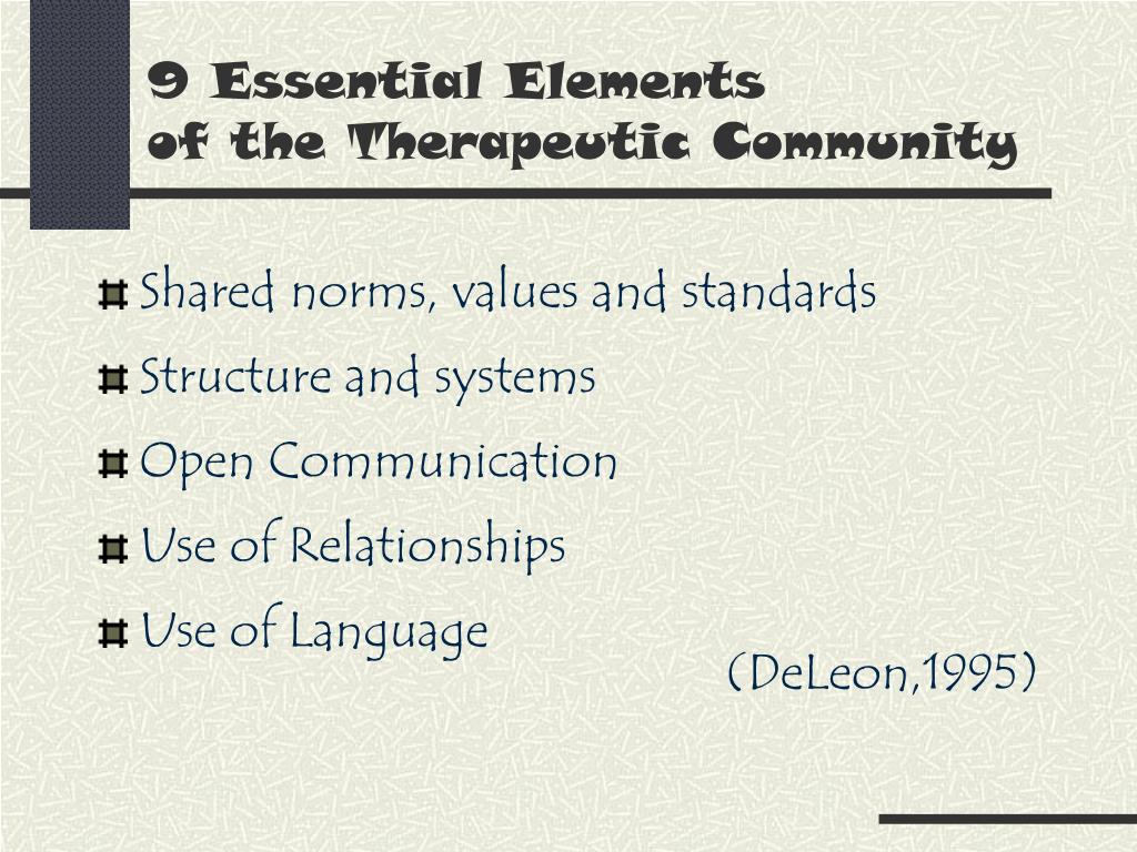 9 Essential Elements