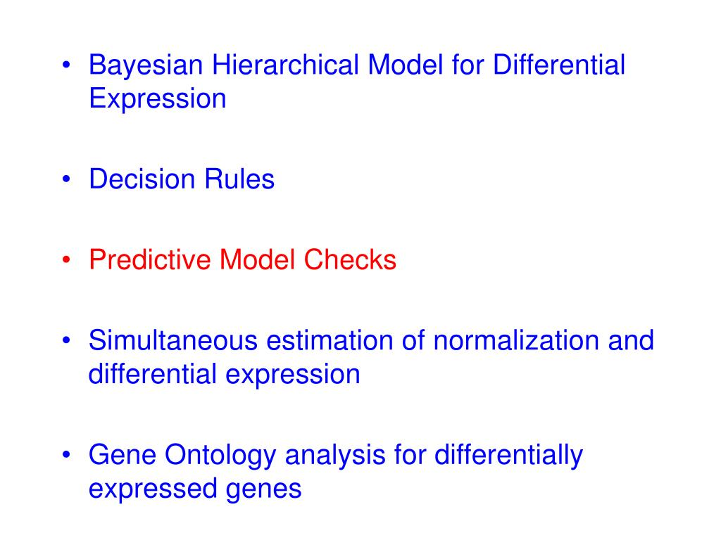 Bayesian Hierarchical Model for Differential Expression