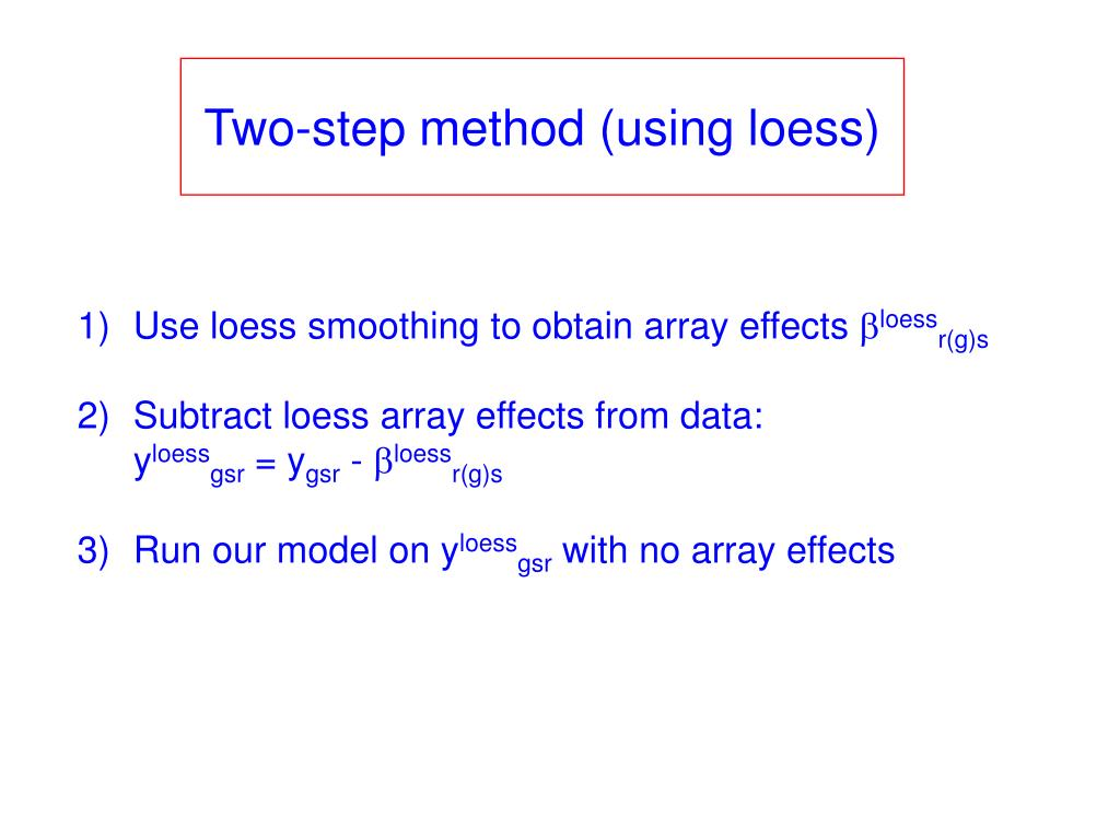 Two-step method (using loess)