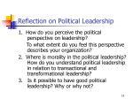 reflection on political leadership