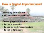 how is english important now1