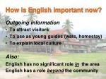 how is english important now2