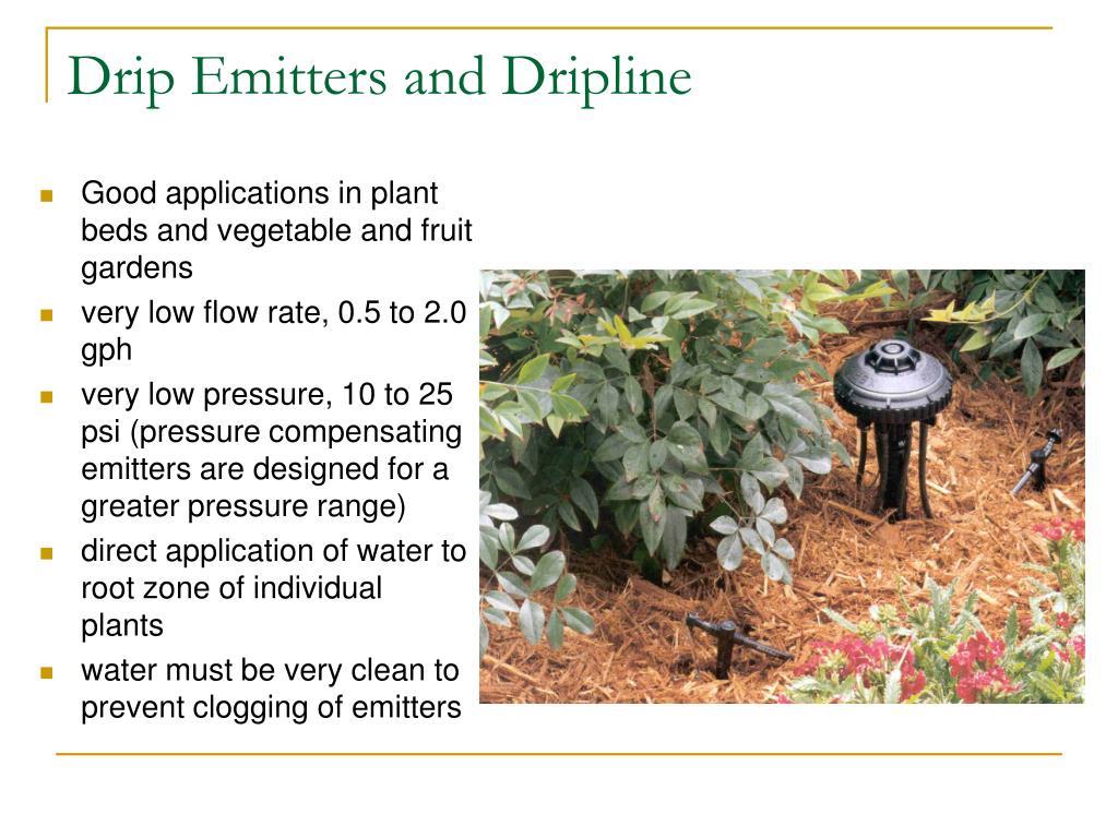 Drip Emitters and Dripline