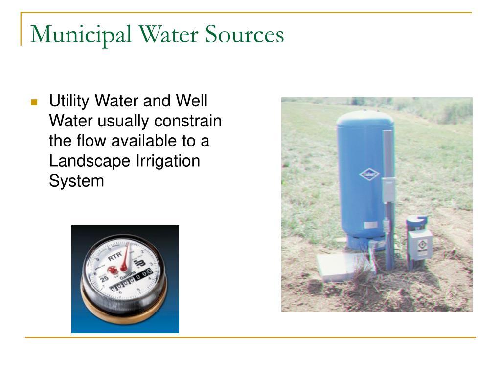Municipal Water Sources
