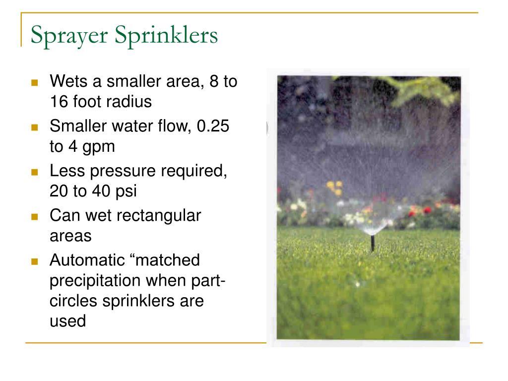 Sprayer Sprinklers