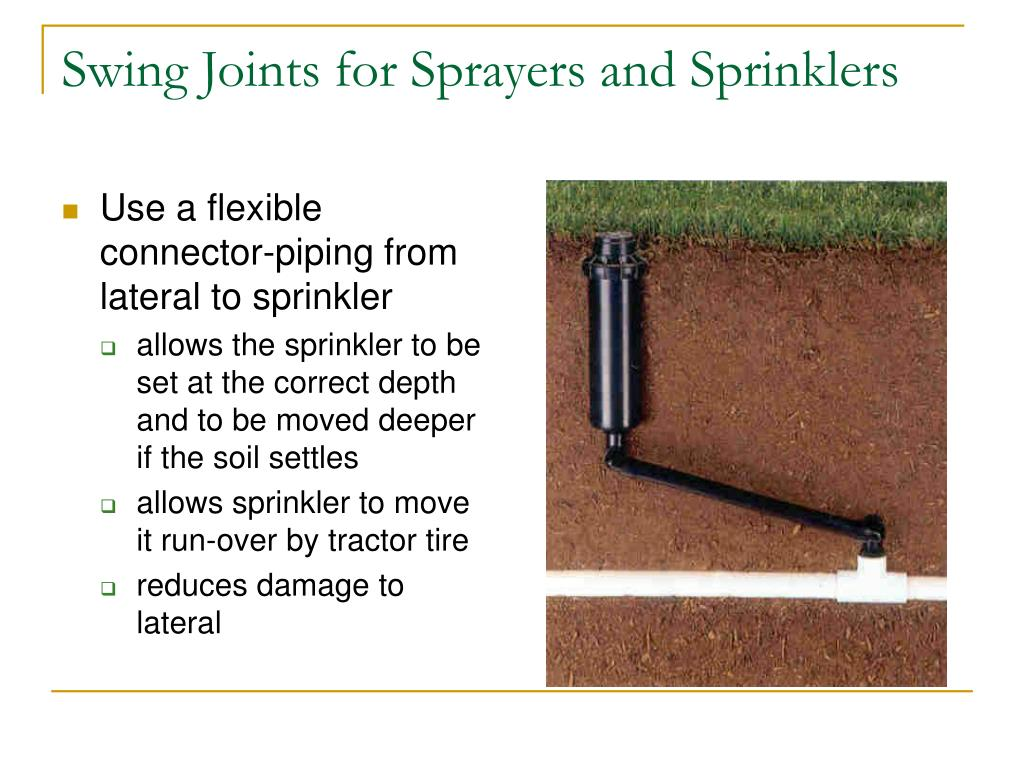 Swing Joints for Sprayers and Sprinklers