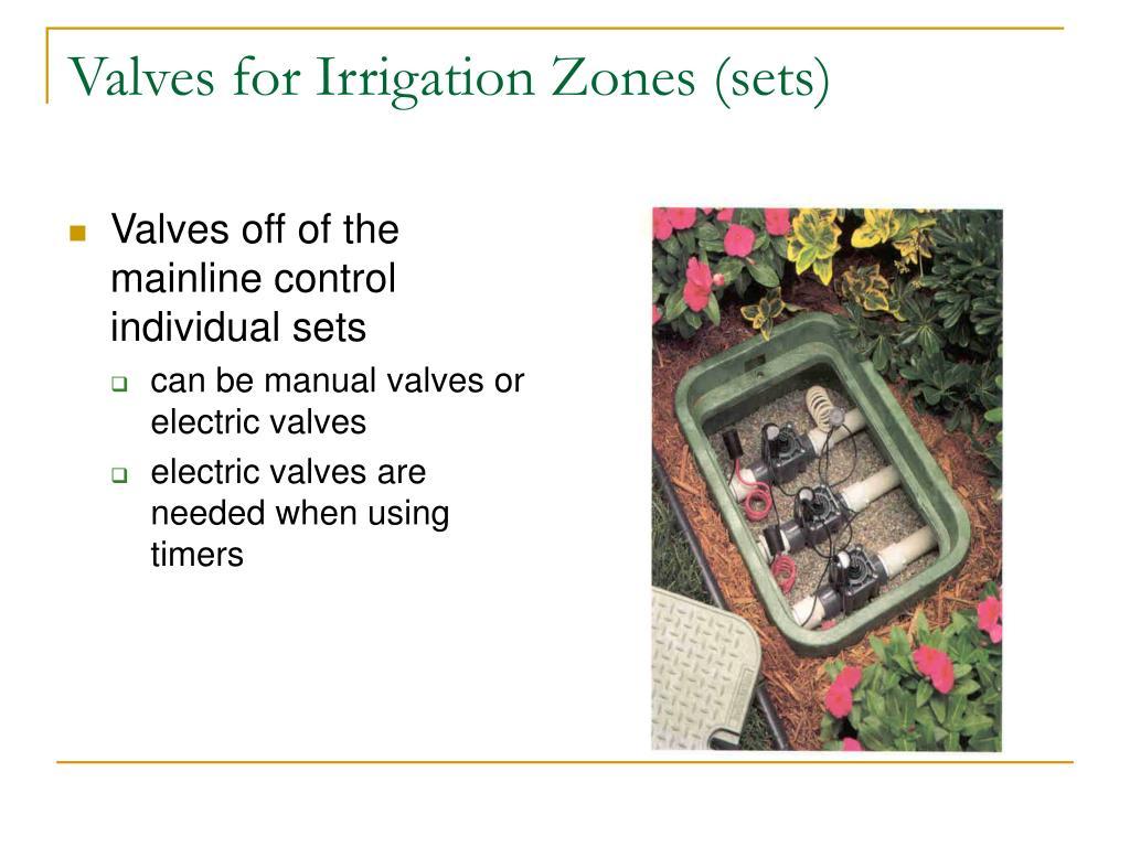 Valves for Irrigation Zones (sets)