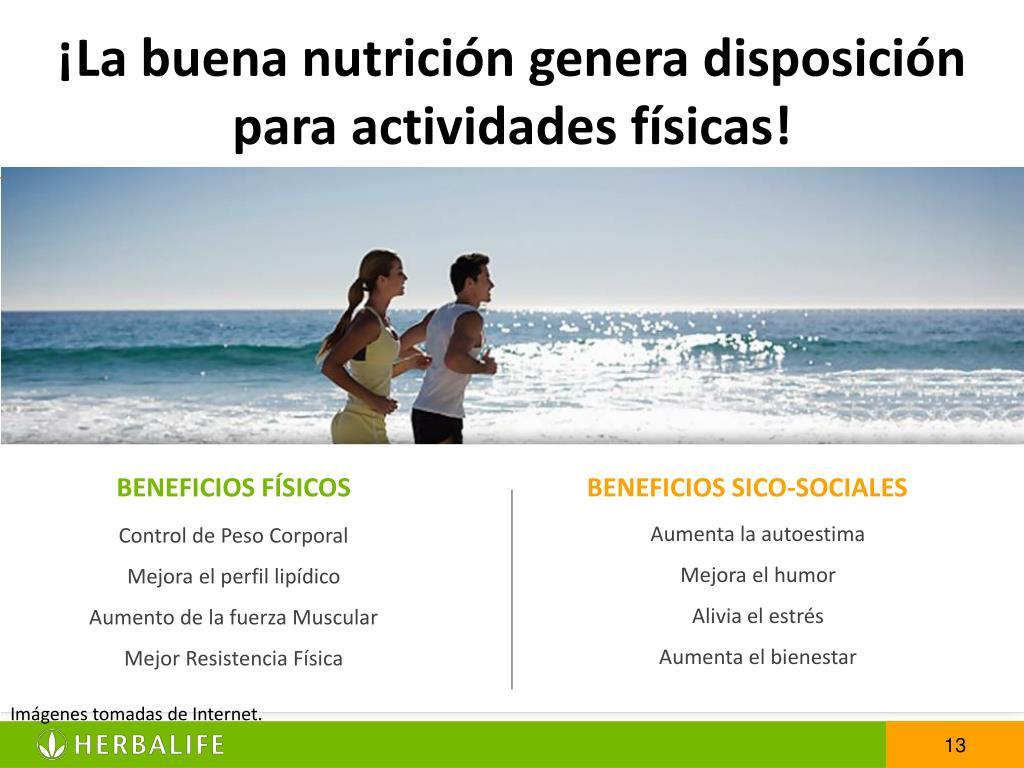 ¡La buena nutrición genera disposición para actividades físicas!