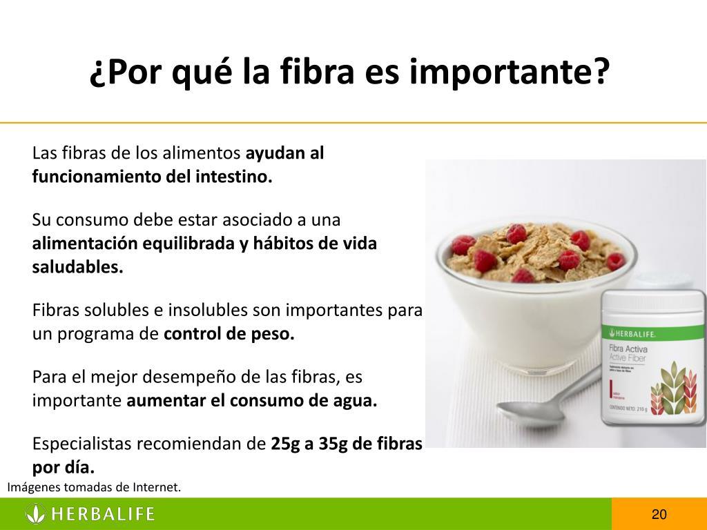 ¿Por qué la fibra es importante?