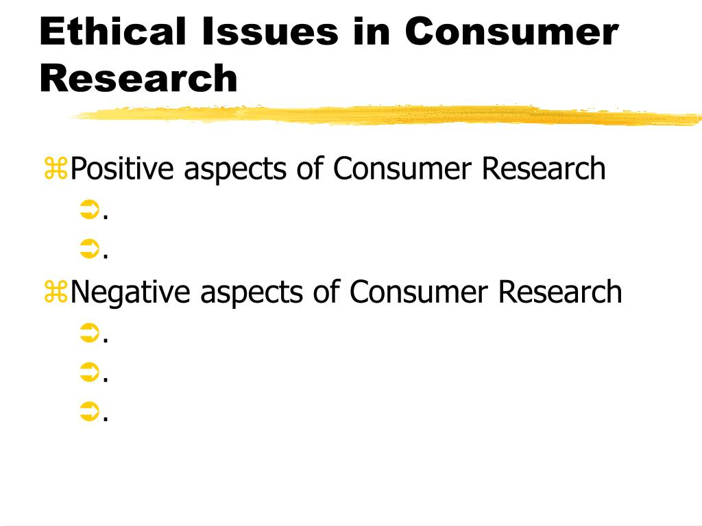 Ethical Issues in Consumer Research