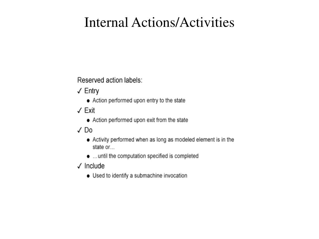 Internal Actions/Activities