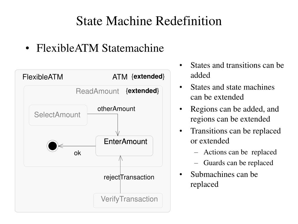 FlexibleATM Statemachine