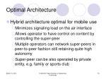 optimal architecture