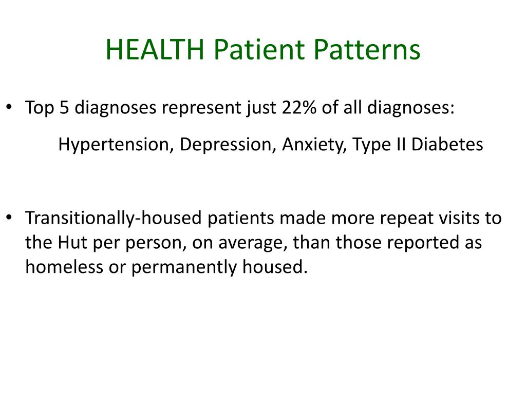 HEALTH Patient Patterns