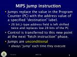 mips jump instruction