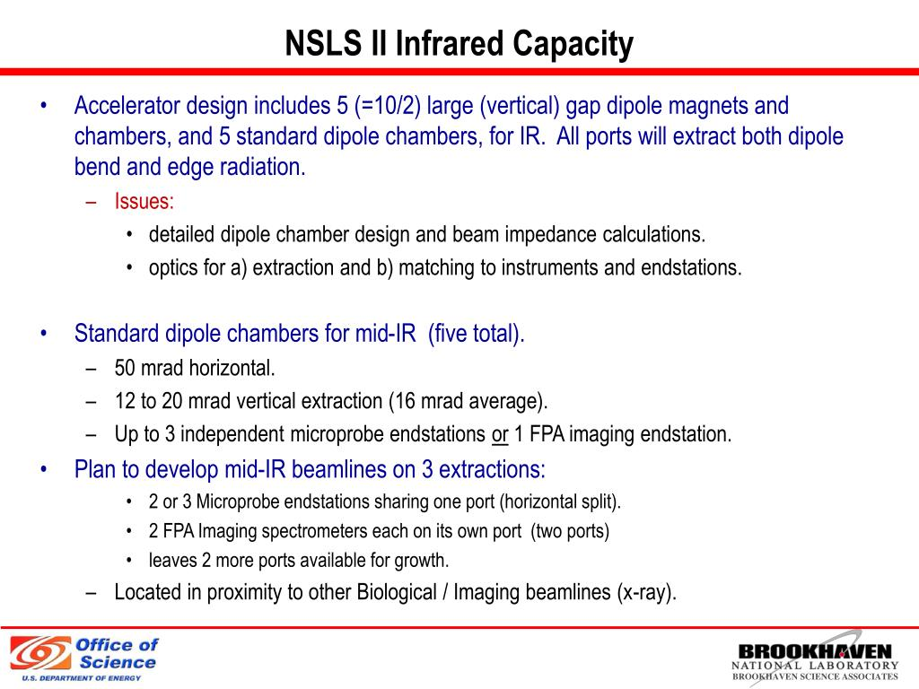 NSLS II Infrared Capacity