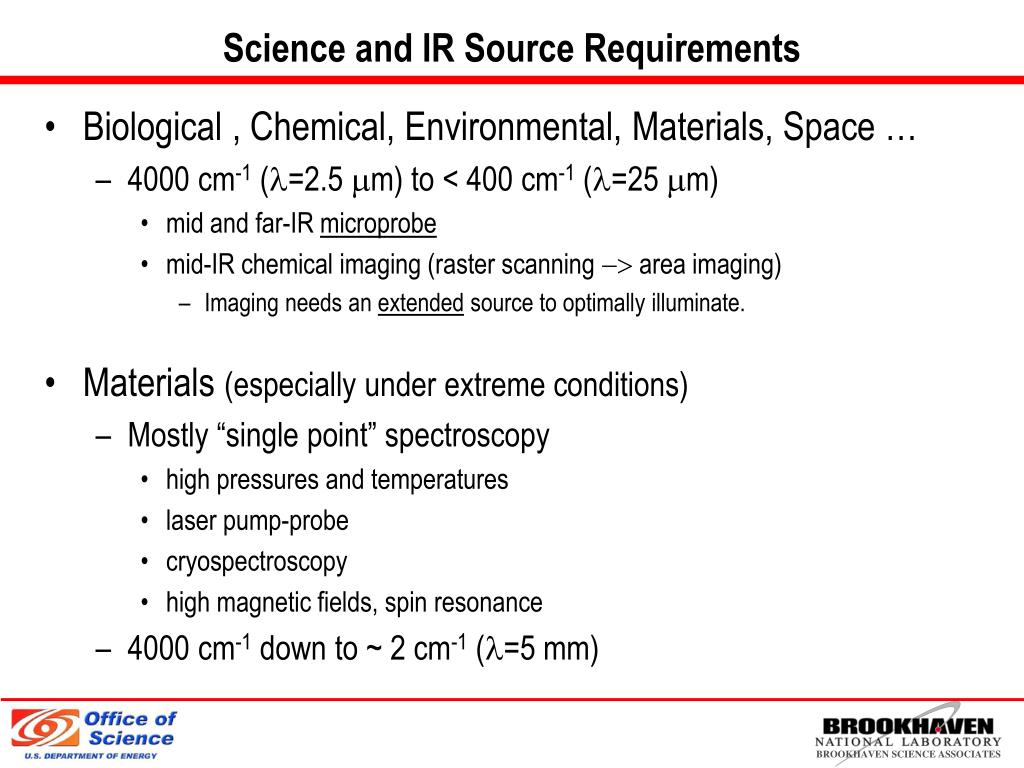Science and IR Source Requirements
