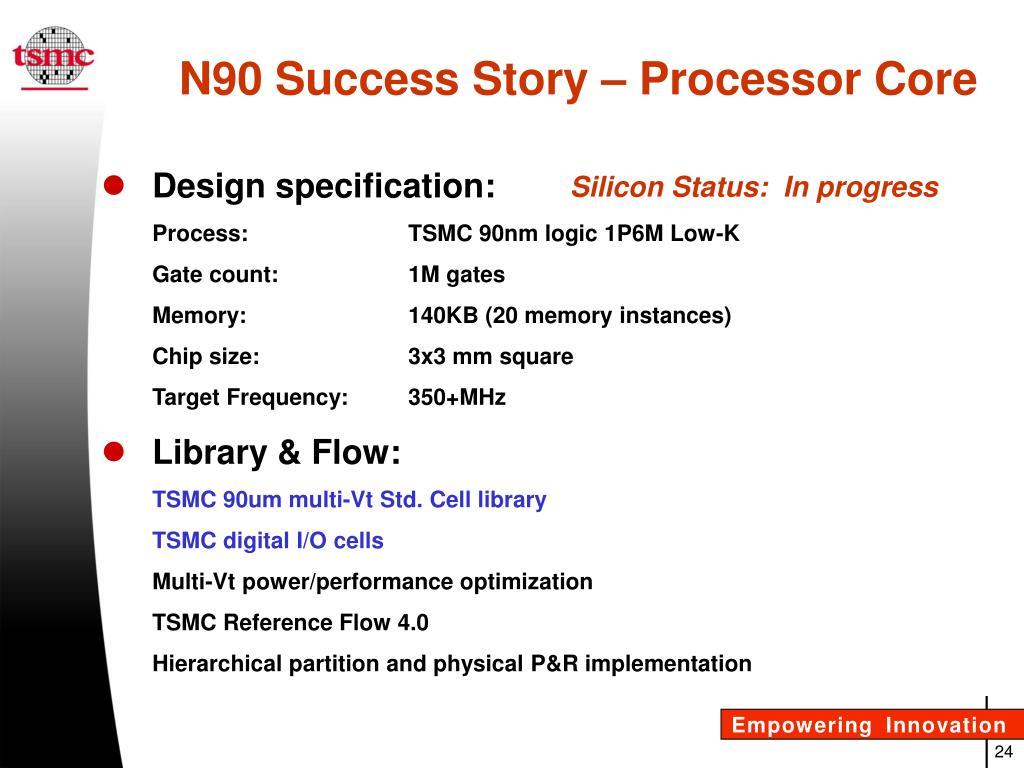 PPT - TSMC Libraries Advanced Technology Standard Cells Industry