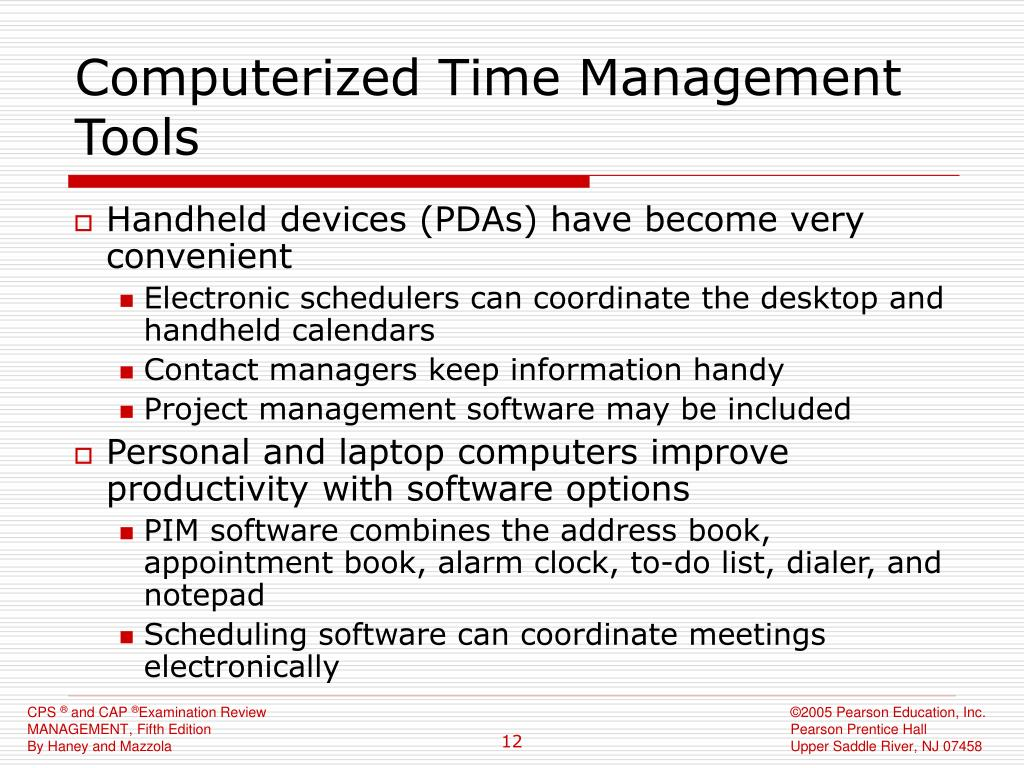 Computerized Time Management Tools