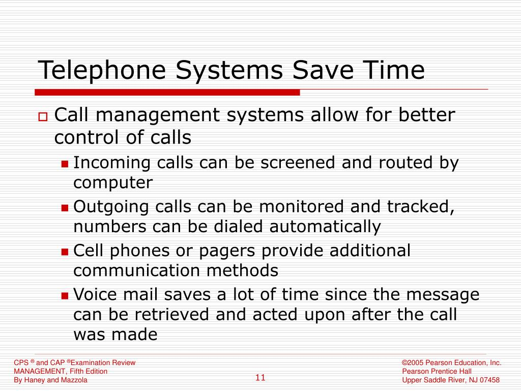 Telephone Systems Save Time